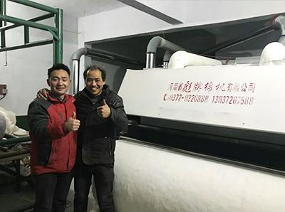 大型弹花机南阳市邓州客户介绍